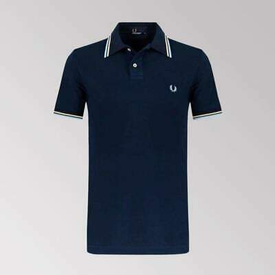 Mens Fred Perry Twin Tipped Polo Shirt   Size Medium.  Slim Fit