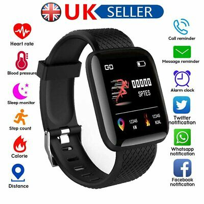 Unisex Smart Watch Bluetooth Heart Rate Blood Pressure Fitness Activity Tracker