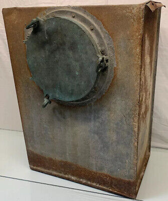 "Antique 20"" x 16"" x 9.5""  Military US Navy Metal Portal Locker RARE"