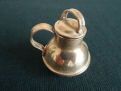 Vintage Miniature Silver Plate Jersey Lidded Jug 2 Inches Tall