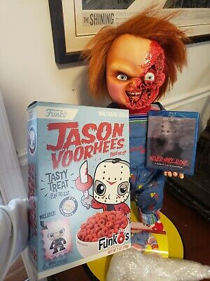 Funko Pop! Friday the 13th Cereal Unopened & Never Hike Alone Blu-ray w/ COA Lot