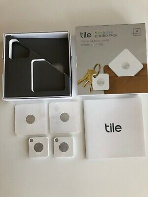Tile  Bluetooth Tracker  :  Combo pack (Slim and Mate) - 4 Pack