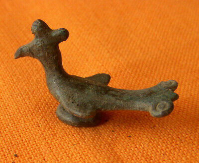 A355. Byzantine bronze small figure of bird