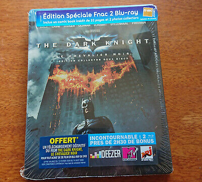 BATMAN The Dark Knight BLU RAY STEELBOOK FNAC Exclusive with booklet NEW SEALED