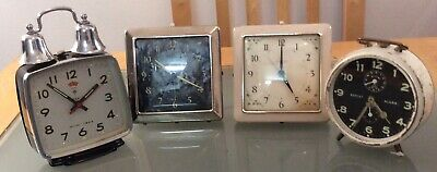 Selection Of Wind Up Clocks **Working Order**