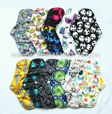 Menstrual Pad Sanitary Bamboo Charcoal Reusable Washable Eco Friendly XS M L XL