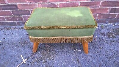 vintage green footstool
