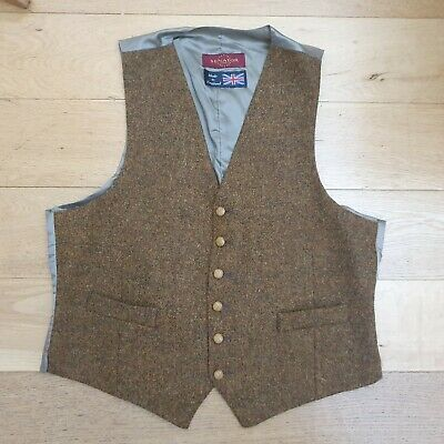 VINTAGE Senator  EQUESTRIAN/COUNTRY STYLE WOOL WAISTCOAT SIZE 44 chest  (k)