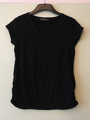 Womens Maternity Blooming Marvellous Black Tshirts Size M Uk 12 With V Neck