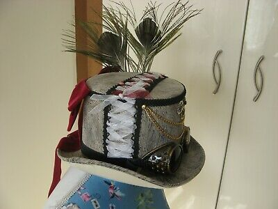 Stunning Grey Steampunk Hat