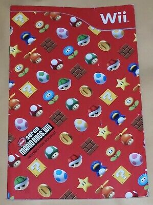 Super Mario Bros Wii INSTRUCTION BOOKLET ONLY (Nintendo Wii)
