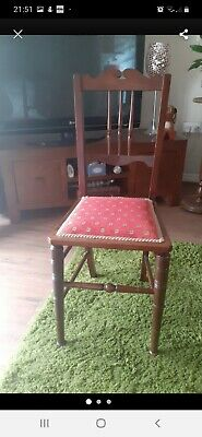 Antique Solid Wood Occasional Chair