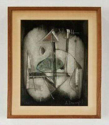 Alfons Dargis (b.1909) NEW YORK Vintage Mid Century Abstract Modernist Painting