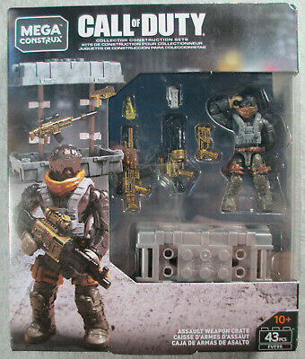 MEGA CONSTRUX CALL OF DUTY ASSAUT WEAPON CRATE FVF99 VHTF !!