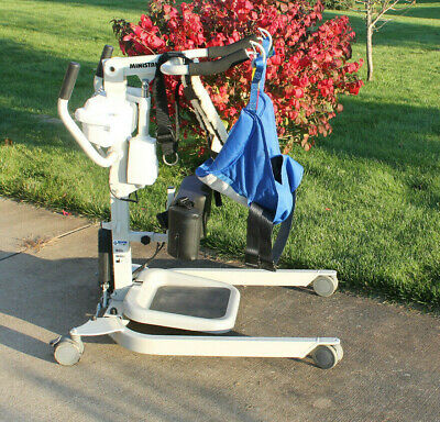 Arjo Huntleigh Bhm Ministand Electric Sara Patient Lift W/ Remote & Sling