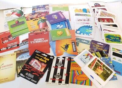 Lot Of 60 Target Kohls & Many More Collectible Gift Cards Non Activated No Value