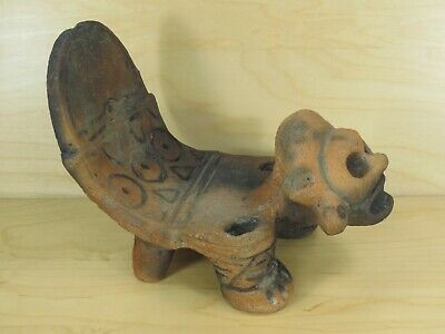 Pre Columbian Colombian Ceremonial Seat Clay Artifact? Souvenir?