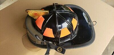 Cairns 880 Traditional Fire Helmet New Unused Condition w/ ESS Goggles + Bourkes