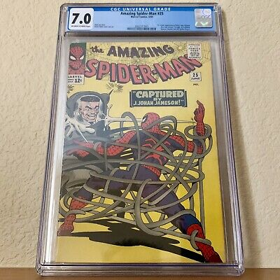 AMAZING SPIDER-MAN #25 CGC 7.0 1ST APPEARANCE of MARY JANE - KEY BOOK NICE WRAP!