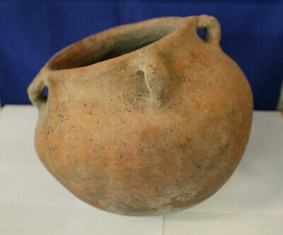 Pre-Columbian Large Water Vessel with Handles 8-Inches Colima Mexico 200-300 AD