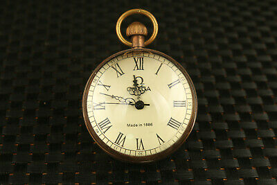 rare old copper mechanical movement watch clock + exquisite box