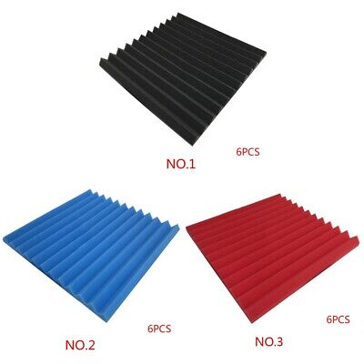 6Pcs Acoustic Wall Panels Sound Proofing Foam Pads Studio Soundproofing