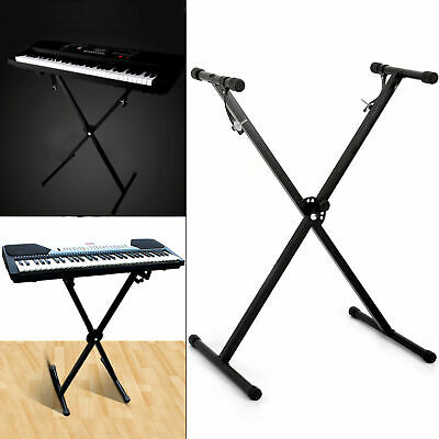 Height Adjustable Double Braced X Frame Music Piano Keyboard Stand
