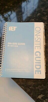 IET On Site Guide for Wiring Regulations 18th Edition 2018 BS7671:2018 Blue.