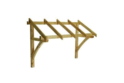 Apex Front Door Pine Porch Canopy 1560mm Gallows Brackets