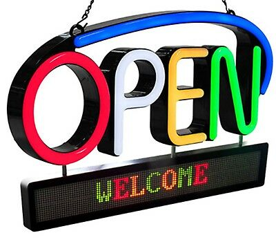 Royal Sovereign LED Premium Open Sign Board with Scrolling Message