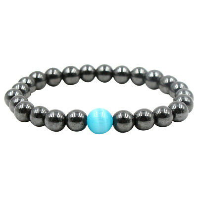 Unisex Therapeutic Energy Healing Bracelet Hematite Magnetic Women Men Bracelets
