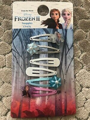 New Disney Frozen 2, 6 Pack, Hair Clips,  Accessories For Girls