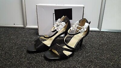 Ladies Spot On F9512 Gold High Heel Evening Court Shoes