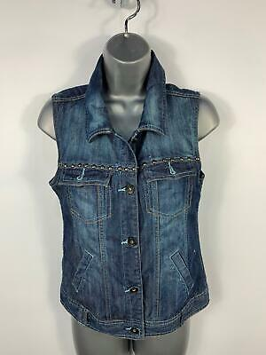 Girls Red Herring Blue Denim Jean Jacket Gilet Body Warmer Top Kids Age 16 Years