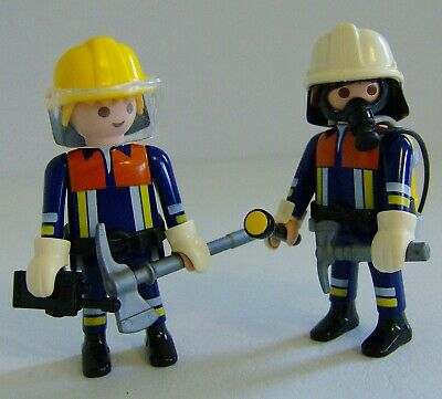 2067 Playmobil Spares x 4 Visors for Fire Fighters Helmets Fireman Figures