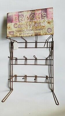 Vintage Brach's Candyland Really Fresh Candy Metal Sign With Original Rack
