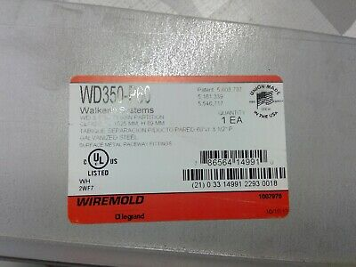 """Wiremold WD350-P60 Wallduct Straight Partition, 60"""" **Free Shipping**"""