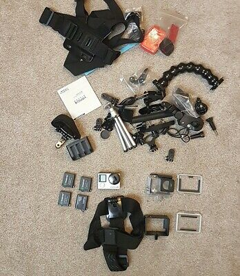 GoPro HERO 4 SILVER EDITION + 4 batteries + lots of accessories!