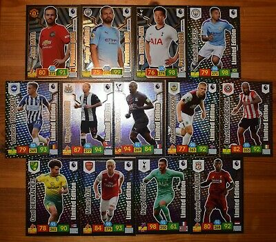 Panini Adrenalyn Xl Premier League 2019/20 - 13 Different Limited Edition Cards