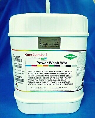 Power Wash Wm By Rycoline/Sun Chemical New 5 Gallon