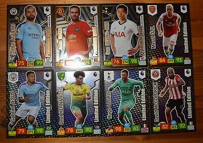 Panini Adrenalyn Xl Premier League 2019/20 - 8 Different Limited Edition Cards