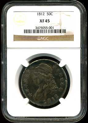 1812 50C Capped Bust Half Dollar XF45 NGC 3475055-001