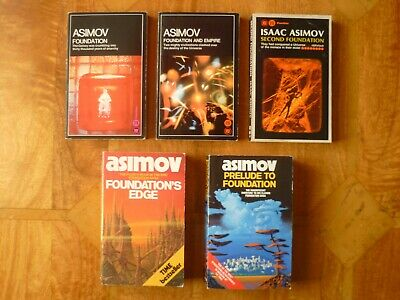 Original Foundation Trilogy + F Edge + F Prelude  - 5 paperbacks by Isaac Asimov
