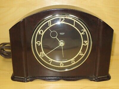 Smiths Sectric Bakelite Electric Mantel Clock For Parts or Repair