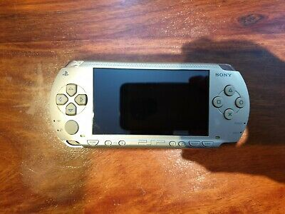 PSP  Playstation Portable console 1000 Gold Special Edition + power supply