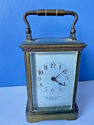 Antique Striking Carriage Clock Goldsmiths London