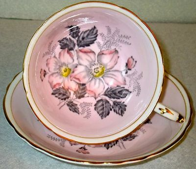 Paragon Beautiful Fine Bone China Cup & Saucer, pattern A703, from 1950s