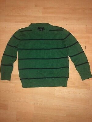 Boys Gap Green And Navy Stripped Jumper Aged 4-5 Years