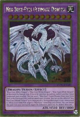 Neo Blue-Eyes Ultimate Dragon - MVP1-ENG01 - Gold Rare Unlimited New Movie FKM