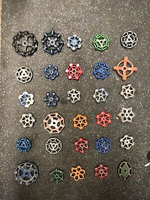 30 Vintage Metal Water Gas Valve Spicket Spigot Knobs Handle Steam Punk Art